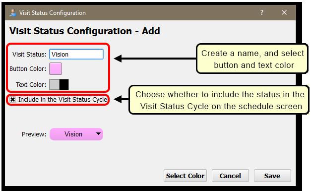 Show the Add status window